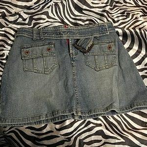 Juniors jean skirt